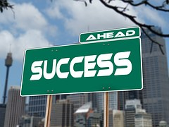 success-road-sign